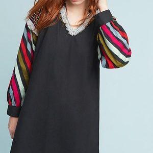 $250 Anthropologie Chantik S Chevron Dress NWT
